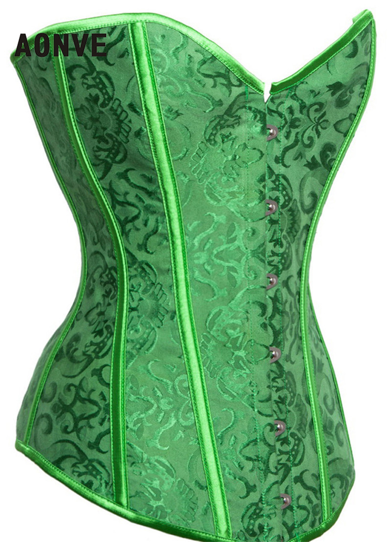 sexy green corset sexy lingerie brocade royal wedding jarquard corsets and  bustiers for women MRIOCUX