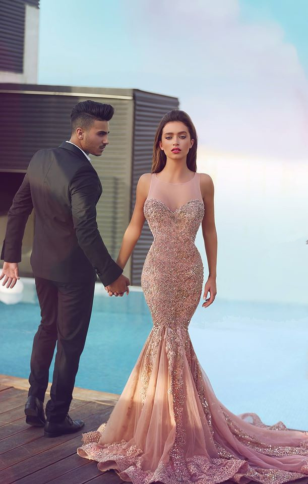 sexy prom dress aliexpress.com : buy sexy prom dresses with crystal beading mermaid 2015  tank court train HYHXGCK