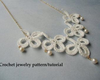 shamrock crochet jewelry patterns - instant download pdf. GNCOCXZ