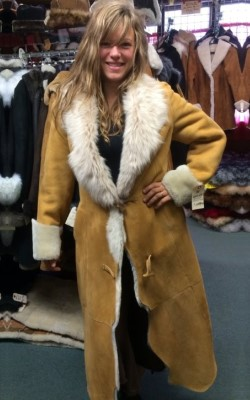 shearling coat katiya womenu0027s fitted shearling sheepskin coat - full length sickafus  sheepskins u0026 shearling UPKXLBL