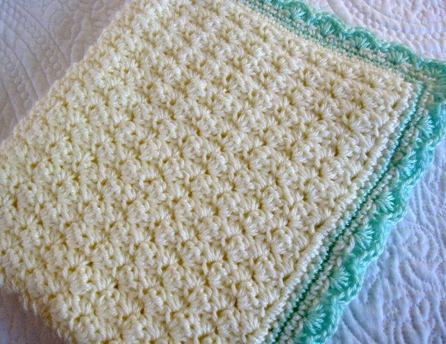 shell stitch crochet baby blanket free pattern WMILQBO