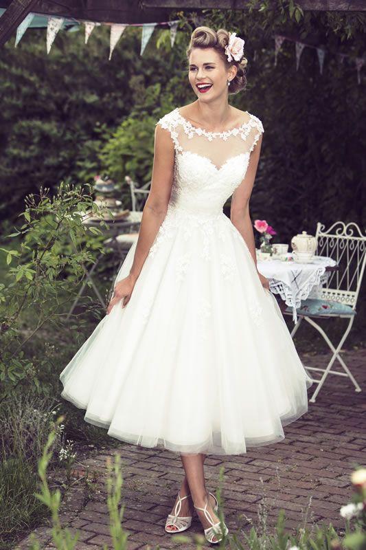 short wedding dress brighton belle tea length wedding dress | mae TRDZCSJ