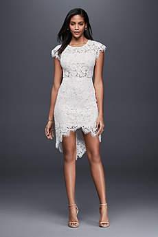 short wedding dress short sheath beach wedding dress - soieblu XHXDHAL