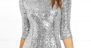 silver sequin dress - cocktail dress - homecoming dress - $63.00 AKQLWJT