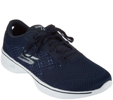 Skechers sneakers skechers gowalk 4 knit lace-up sneakers - exceed QIKXDCP