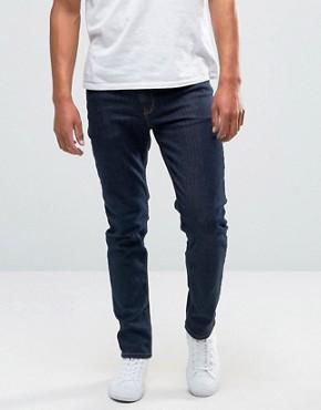 skinny jeans for men asos skinny jeans in raw blue IEKHYJX