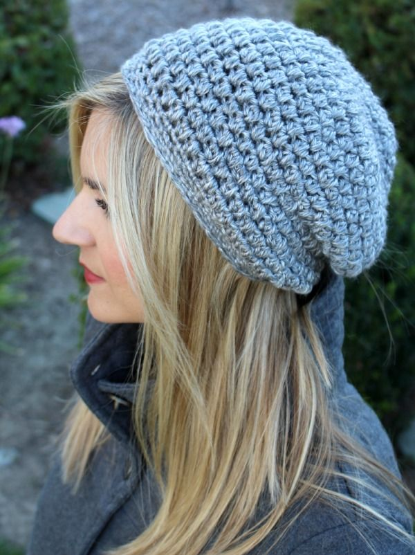 slouchy beanie crochet pattern free slouchy crochet hat pattern with video tutorial and  written/downloadable instructions. WXNTMDL