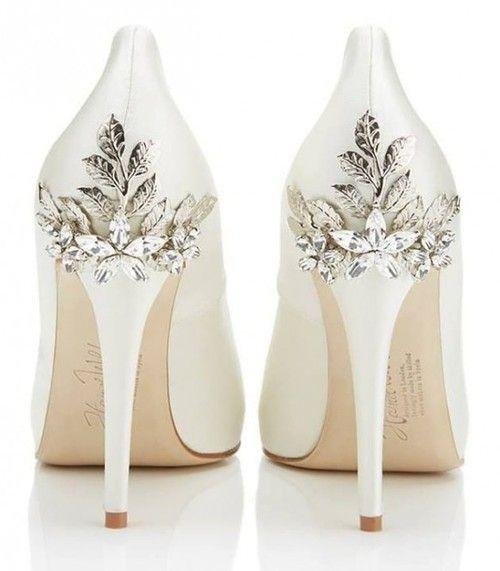sparkle ivory wedding heels UHGHAEK