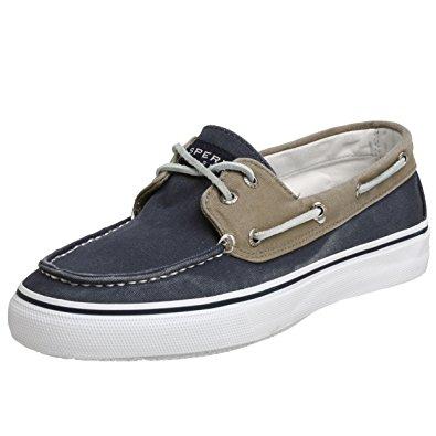 sperry top sider sperry top-sider menu0027s bahama 2-eye navy/khaki boat shoe ... HYGLWDL