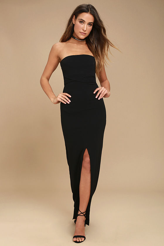 strapless dress own the night black strapless maxi dress 1 PDSONEF