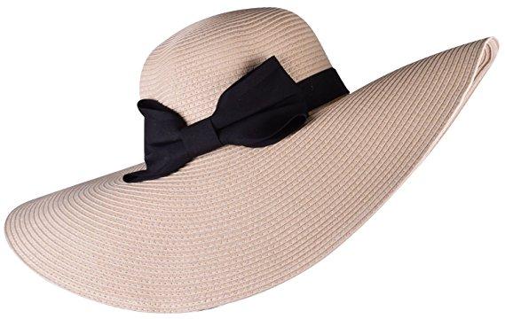 straw beach hat stylish summer hats wide brimmed sun hat floppy hat summer  beige OKGMCAK