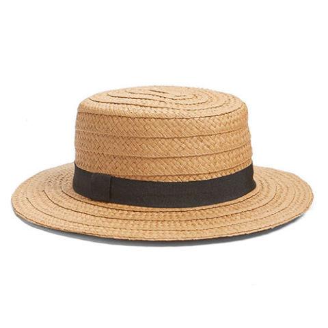 summer hats hinge straw boater hat NLFOJKG