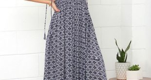 summer maxi dresses field day navy blue print maxi dress NUAURSY