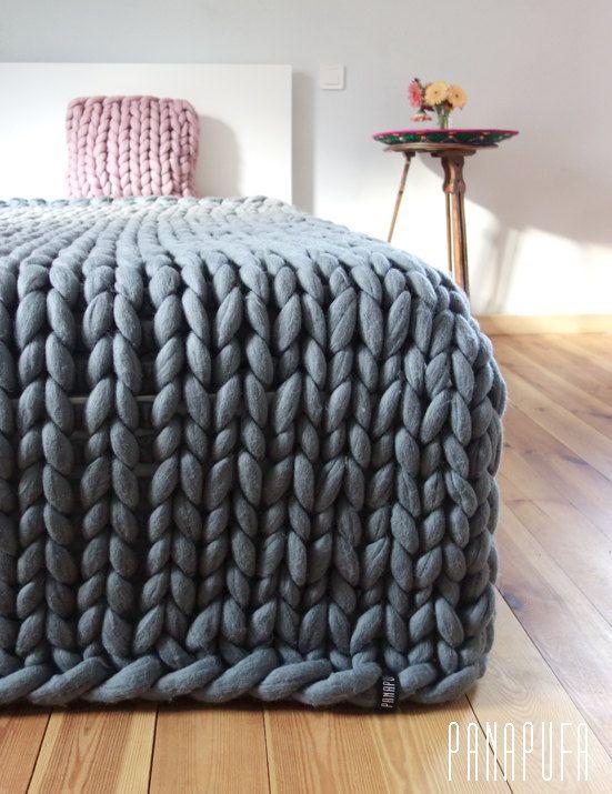 super chunky kingsize blanket,merino blanket, super chunky knit blanket,  knit throw blanket, oversized chunky MVKUKFF