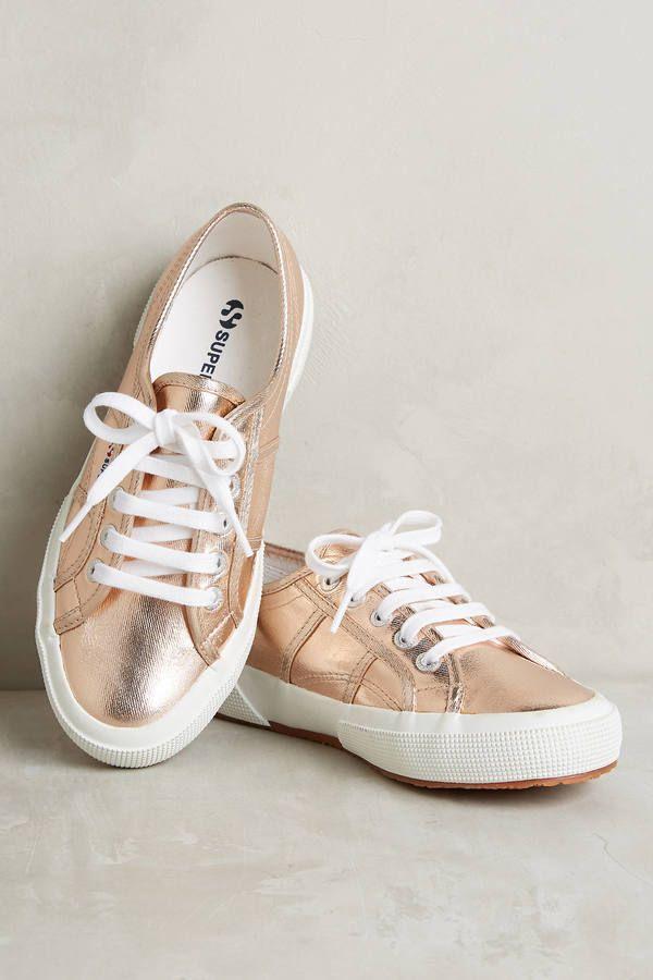 superga metallic rose gold sneakers HVWYXGK