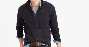 sweaters for men cotton-cashmere zip sweater-jacket TEKYSFC