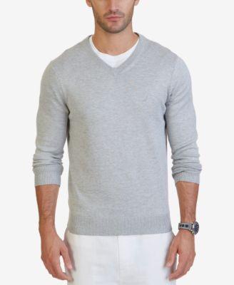 sweaters for men nautica menu0027s v-neck classic fit sweater ZMFGZOW