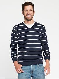 sweaters for men striped v-neck sweater for men MDCONDU
