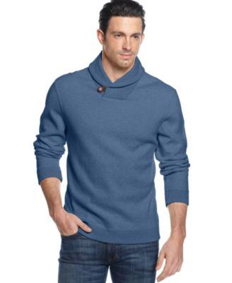 sweaters for men tasso elba shawl collar sweater OQMTCTH