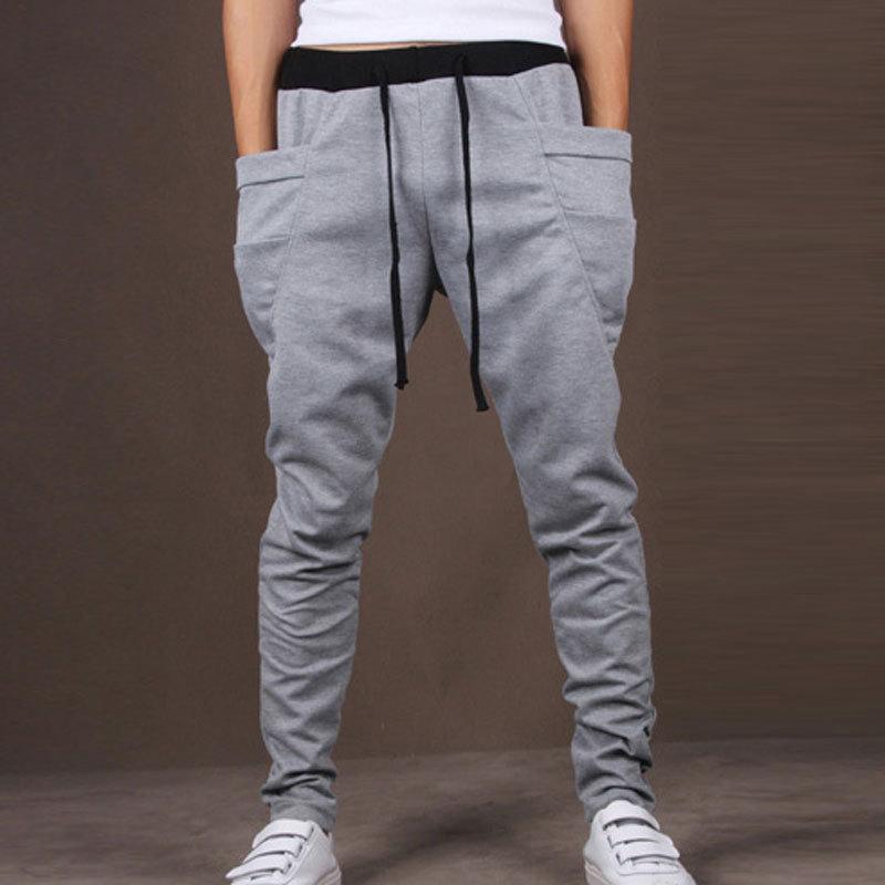 sweatpants for men new fashion style menu0027s harem pants male casual skinny cotton sweatpants  fashion pants trousers RGXHVKR