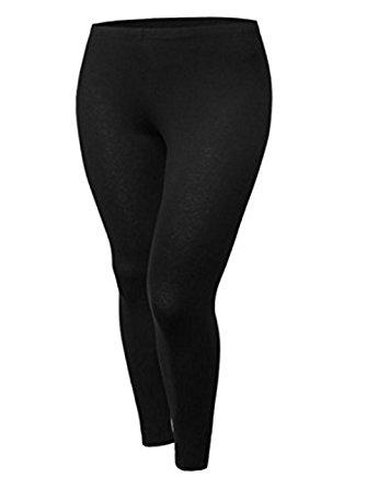 tru fit womens fleece leggings-reg u0026 plus sizes (s, m, l, xl, 2xl, 3xl, 4xl) ELNITSH