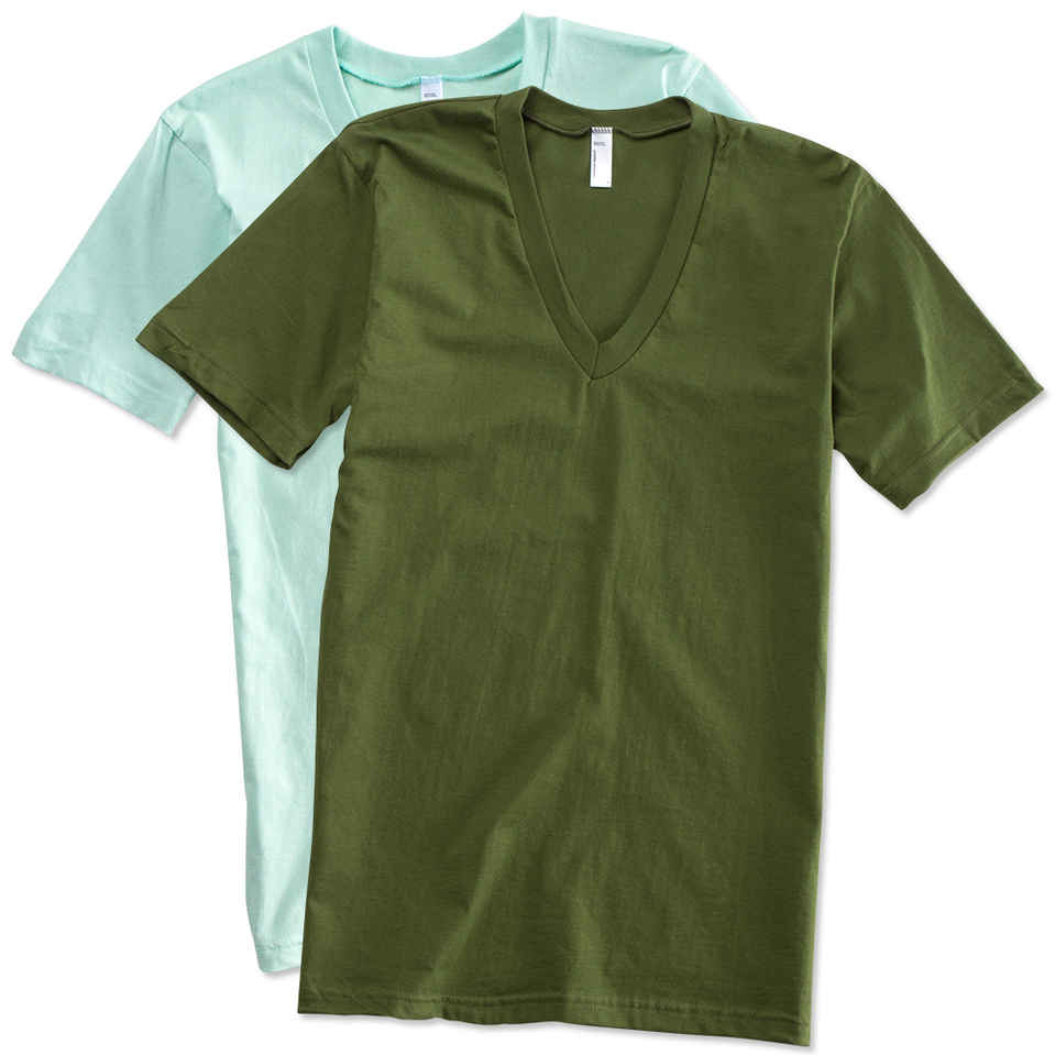v neck t shirts design custom printed american apparel jersey v-neck t-shirts online at  customink FMWZUGM