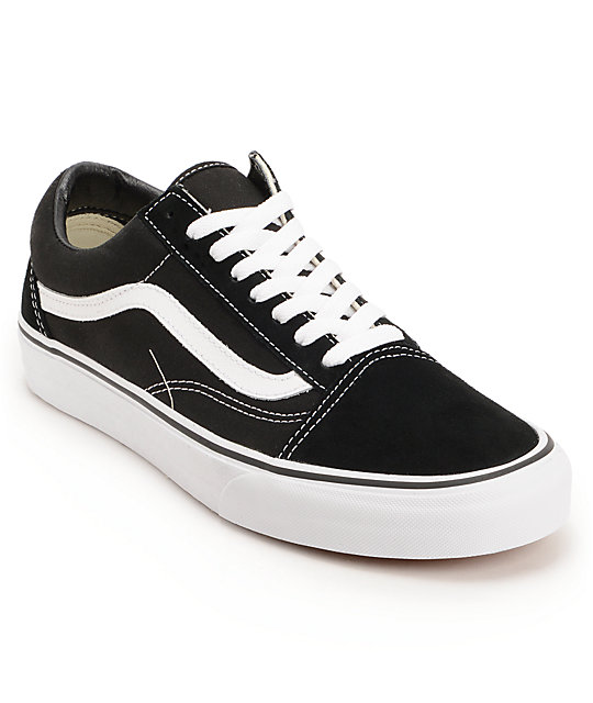 vans shoes vans old skool black u0026 white skate shoes PLBGFKM