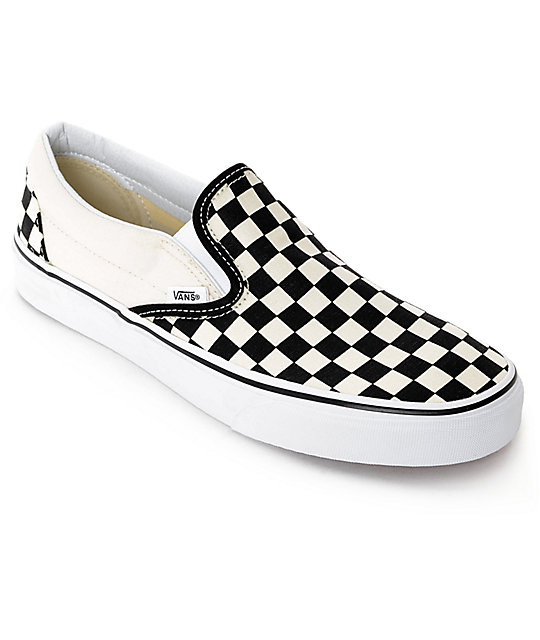 vans shoes vans slip-on black u0026 white checkered skate shoes LUVRGTX