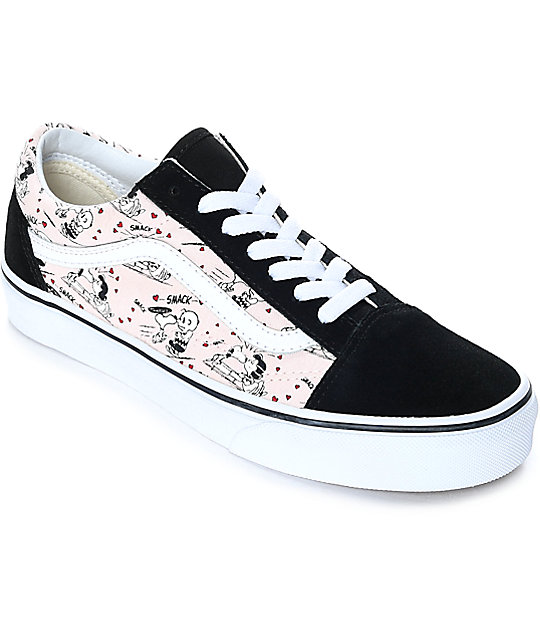vans shoes vans x peanuts old skool smack pearl skate shoes NMFRSRK