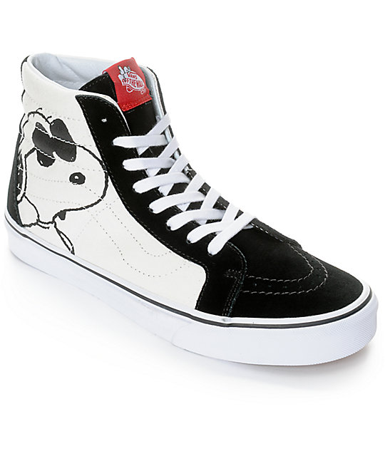 vans shoes vans x peanuts sk8-hi joe cool skate shoes QYBREGE
