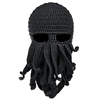 vbiger beard hat beanie hat knit hat winter warm octopus hat windproof  funny for WFATCUJ