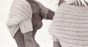 Vintage crochet shrug 50s vintage knitted shrug bolero pattern flirty style UARMNOE