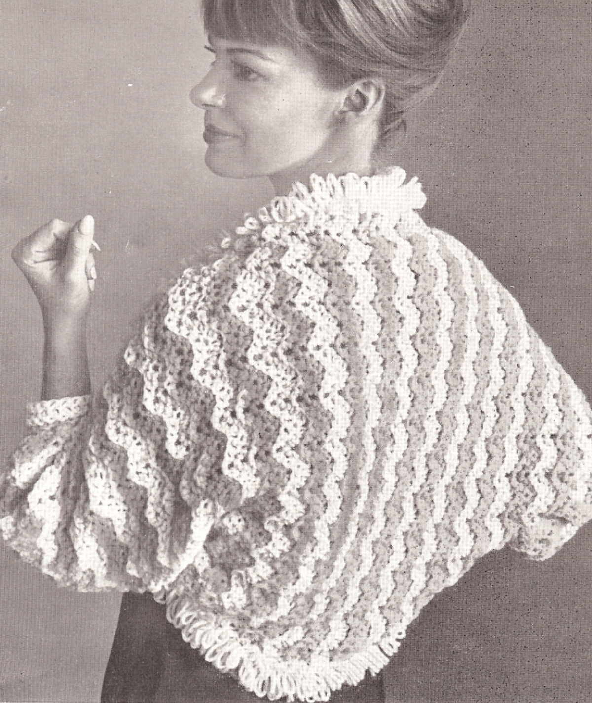 Vintage crochet shrug categories LYGQPIV