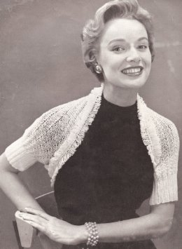 Vintage crochet shrug get quotations · vintage knitting pattern to make - knitted fringed shrug  wrap sweater TJJYQLA