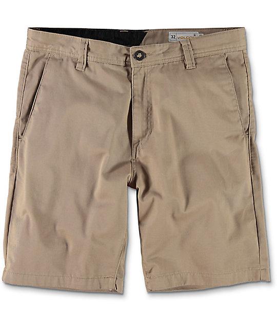 volcom frickin drifter khaki chino shorts TZTUBHG