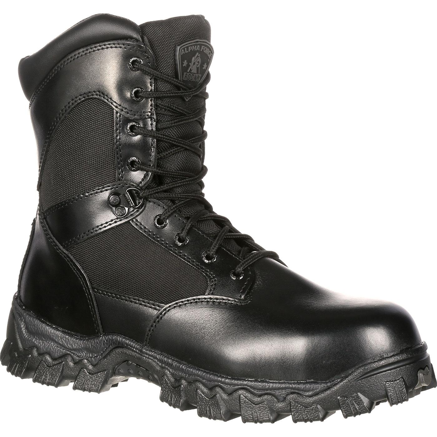 waterproof boots rocky alphaforce zipper waterproof duty boot, , large NCNXCXP