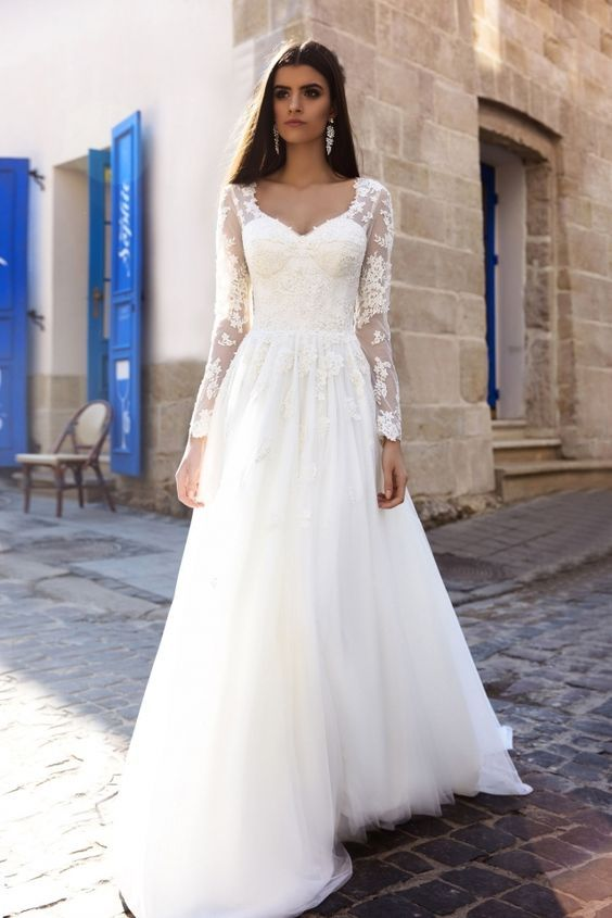 wedding dresses with sleeves best 25+ sleeve wedding dresses ideas on pinterest | lace sleeve wedding  dress, lace DUPSONV