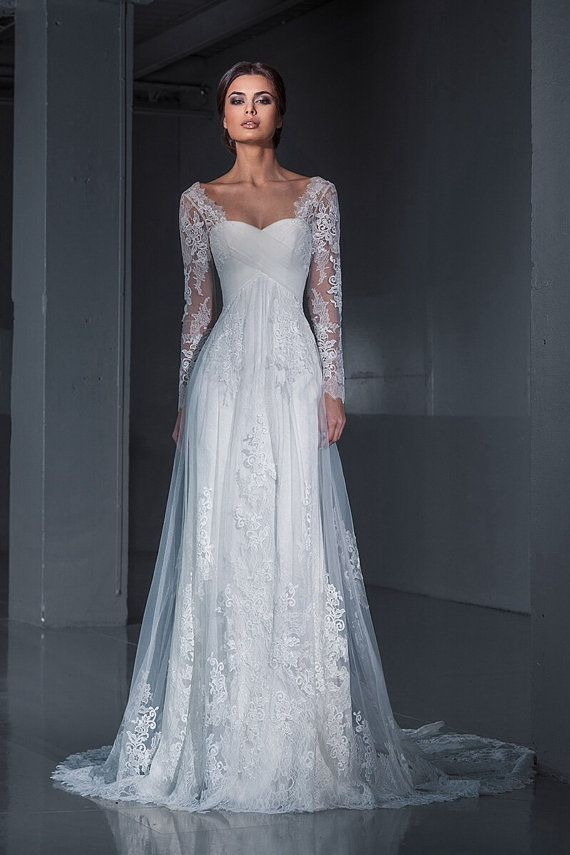 wedding dresses with sleeves best 25+ sleeve wedding dresses ideas on pinterest   lace sleeve wedding  dress, lace RHIZNRO