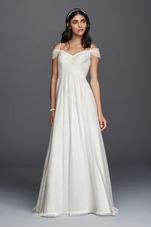 wedding dresses with sleeves long a-line beach wedding dress - galina OWJEJVA