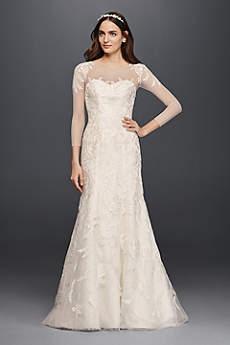 wedding dresses with sleeves long mermaid/ trumpet formal wedding dress - oleg cassini REPQVET
