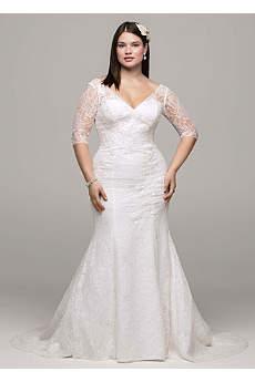 wedding dresses with sleeves long mermaid/ trumpet wedding dress - NANLHQY