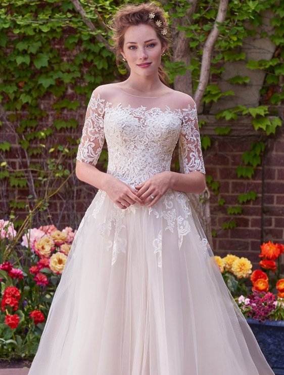 wedding dresses with sleeves wedding dresses and gowns with sleeves   maggie sottero RLDLYSZ