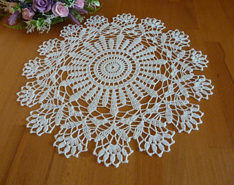 white doily,crochet napkin,crochet doily,crochet tablecloth,table  centerpiece,crochet LWOQGUF