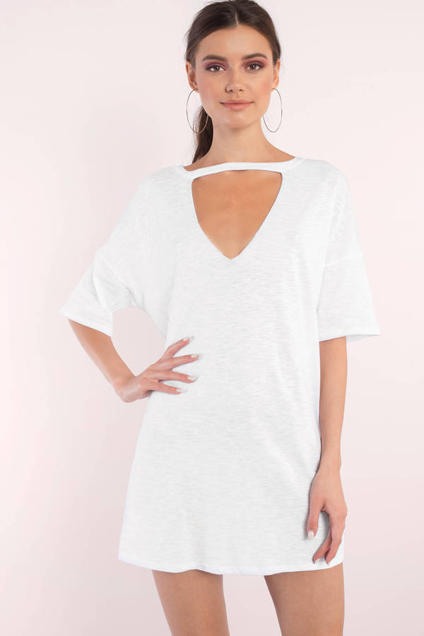 white dresses for women white dresses, white, bailey choker tee dress, ... WFRUCMT