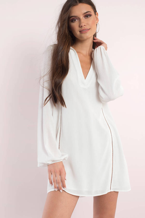 white dresses for women white dresses, white, dreamer long sleeve dress, ... XOICNEU