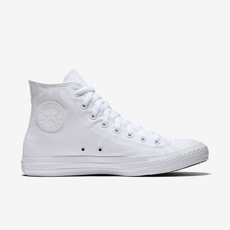 white high top converse converse chuck taylor monochrome high top unisex shoe. nike.com QOOSOMS