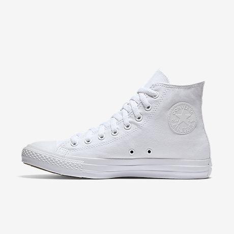 white high top converse converse chuck taylor monochrome high top unisex shoe. nike.com RKSJVDK