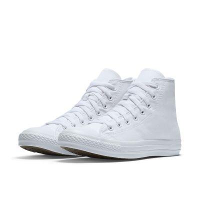 white high top converse converse chuck taylor monochrome high top unisex shoe. nike.com VUTAIWF