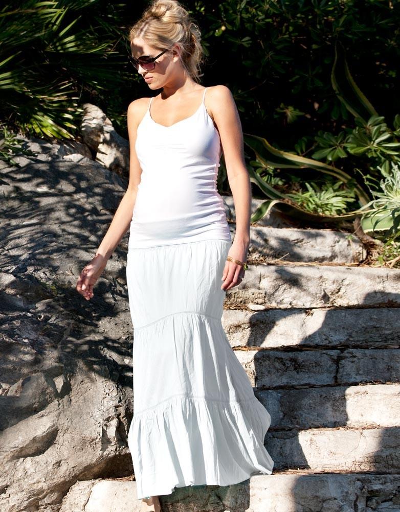 white maxi skirt white maternity maxi skirt OOXGCGD