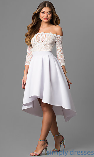 white party dress cl-45123 MSIONWM